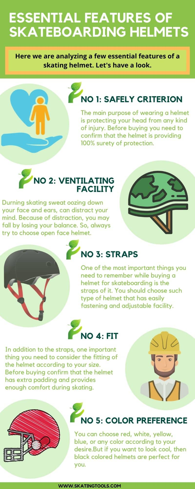 features of skateboarding helmets