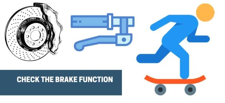 the brake function of the electric skateboard