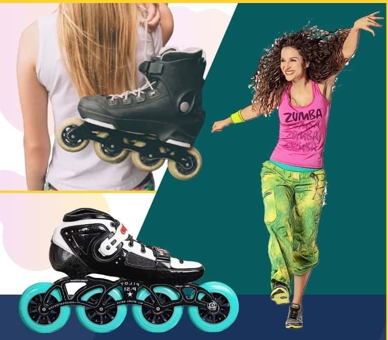 cheap female inline fitness skate