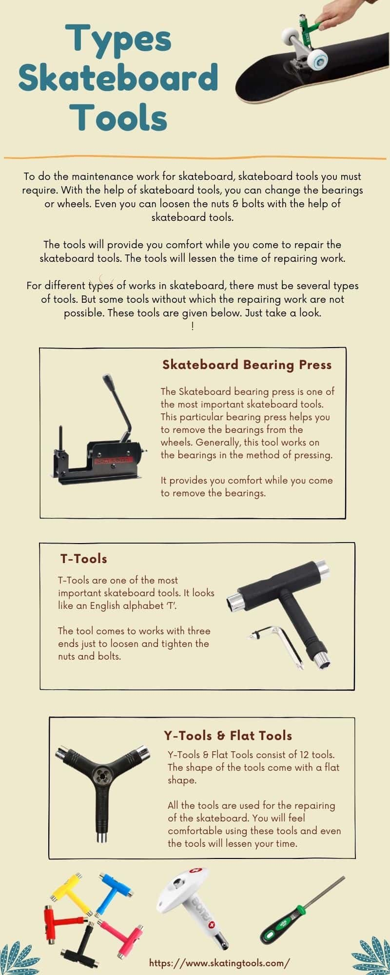 types of skateboard tools
