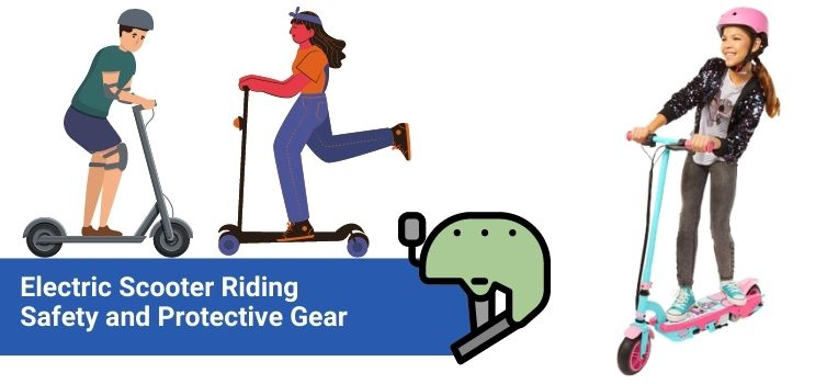 electric scooter riding safety and protective gear